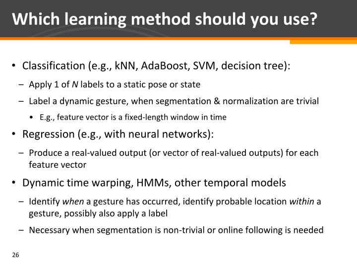 Which learning method should you use?