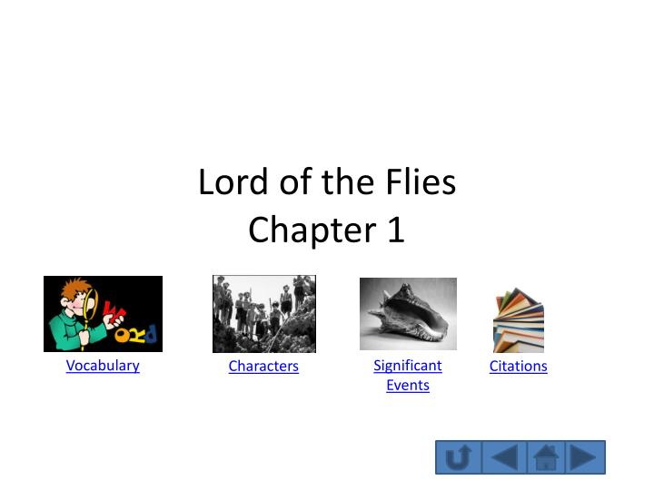 lord of the flies chapter 1 n.