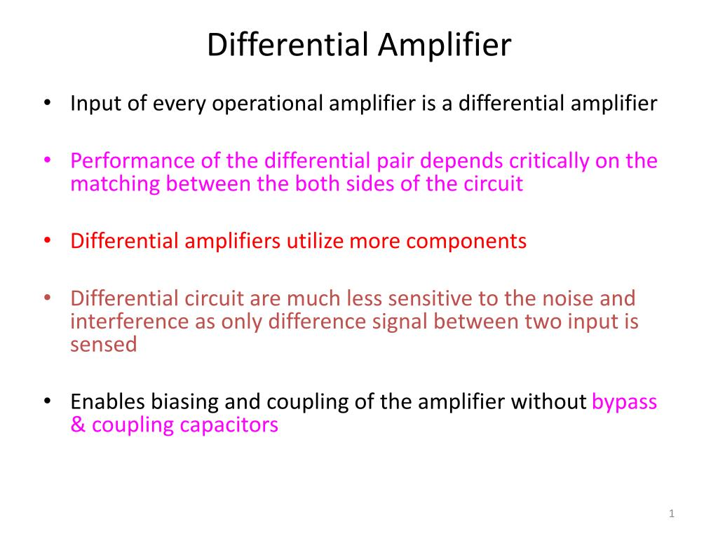 Ppt Differential Amplifier Powerpoint Presentation Id2830175 Operational Amplifiers Summing N