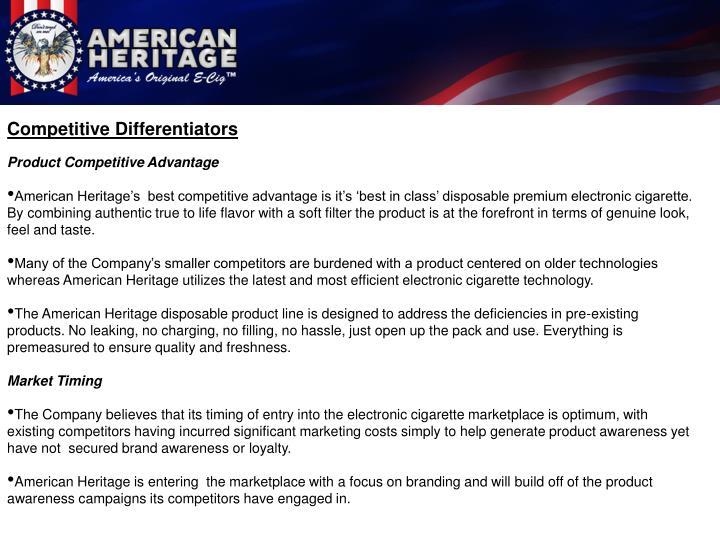 Competitive Differentiators