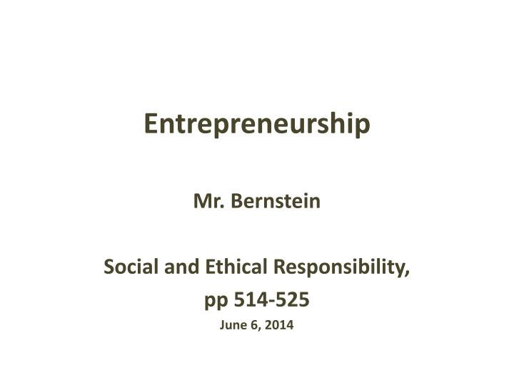 entrepreneurship n.