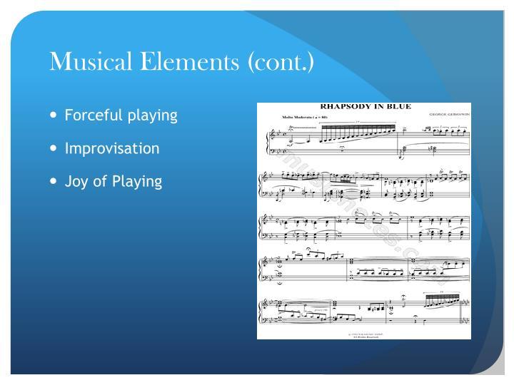 Musical Elements (cont.)