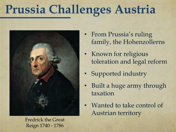 Prussia Challenges Austria