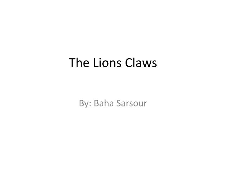 the lions claws n.