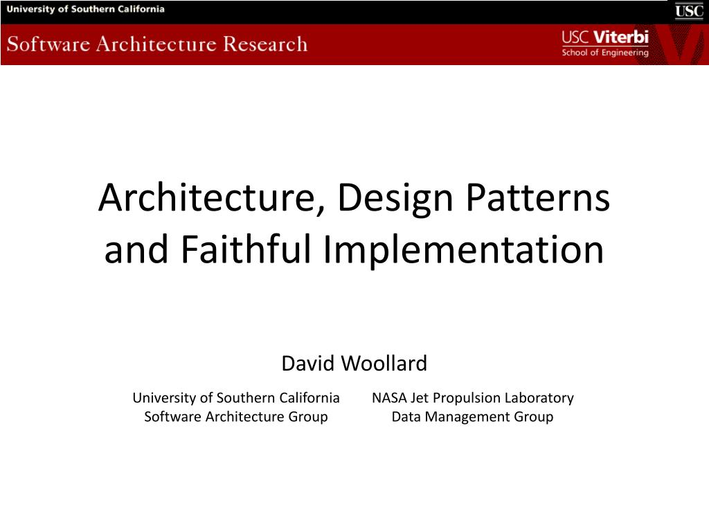 Ppt Architecture Design Patterns And Faithful Implementation Powerpoint Presentation Id 2830582