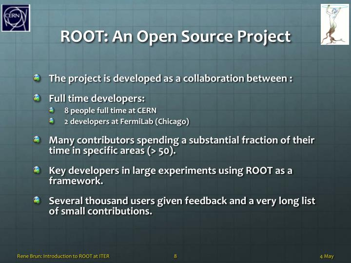ROOT: An Open Source Project