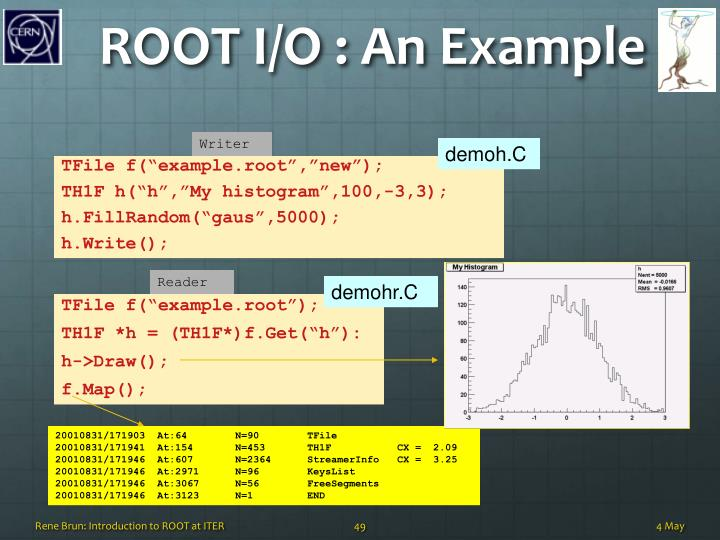 ROOT I/O : An Example