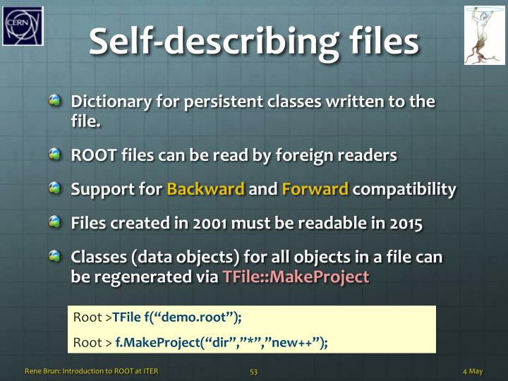 Self-describing files