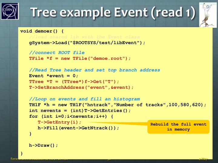 Tree example Event (read 1)