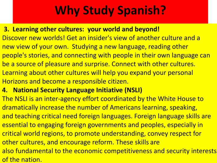 Why Study Spanish?