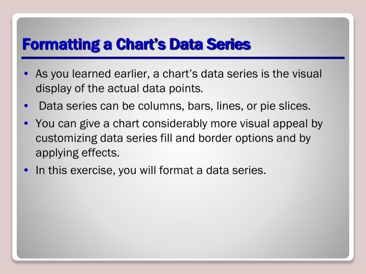 Formatting a Chart's Data Series