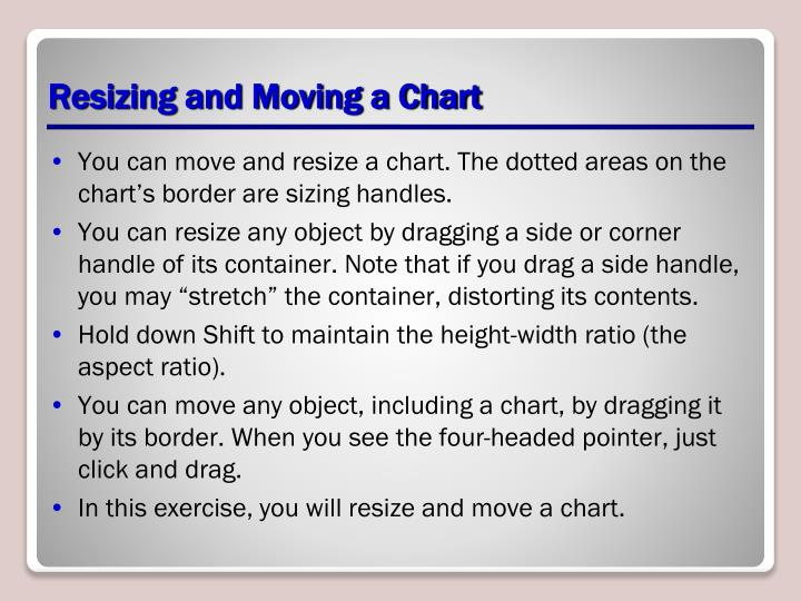 Resizing and Moving a Chart