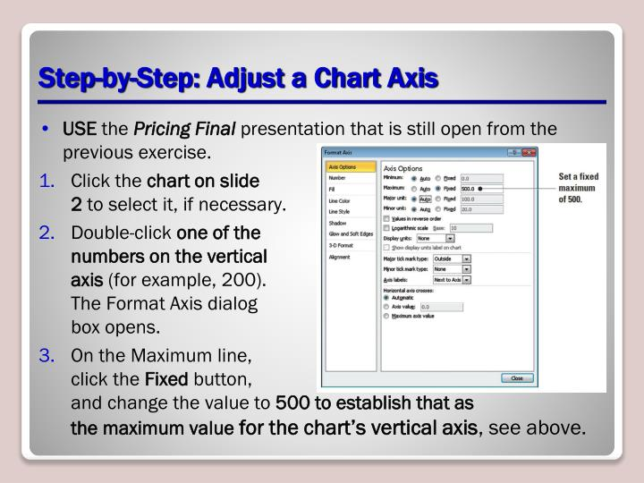 Step-by-Step: Adjust a Chart Axis
