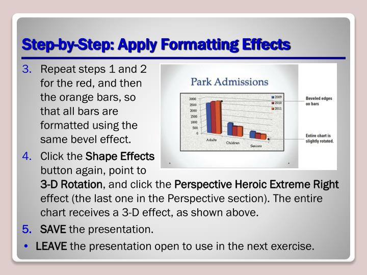 Step-by-Step: Apply Formatting Effects