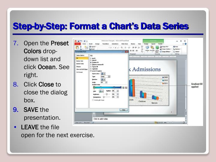 Step-by-Step: Format a Chart's Data Series