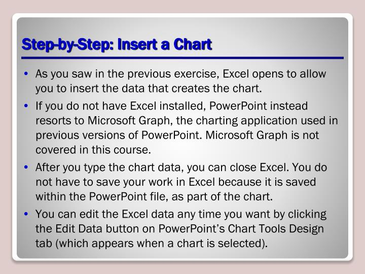Step-by-Step: Insert a Chart