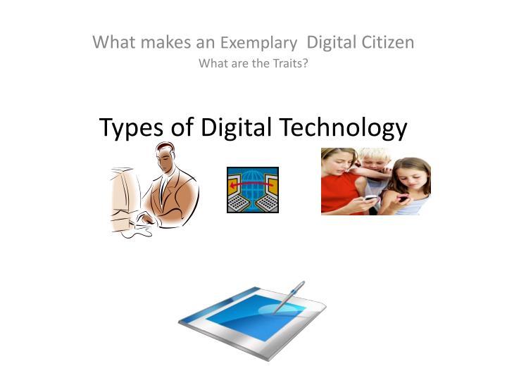 Types of digital technology
