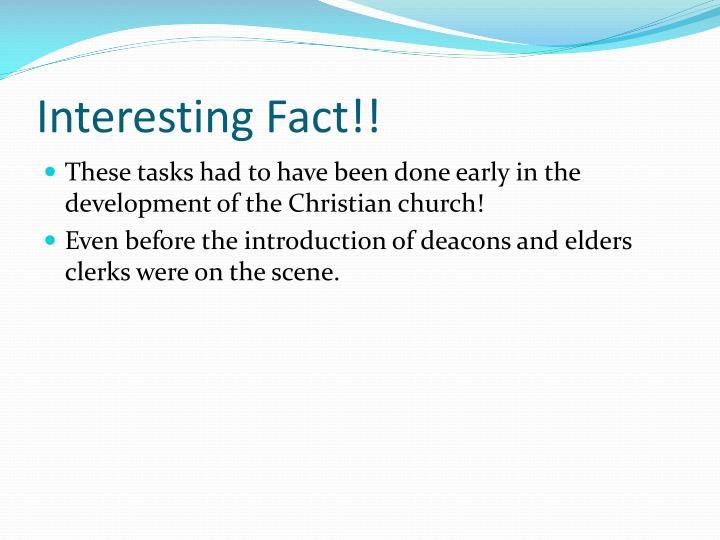 Interesting Fact!!