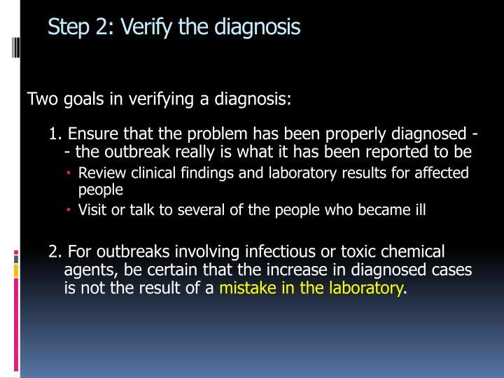 Step 2: Verify the diagnosis