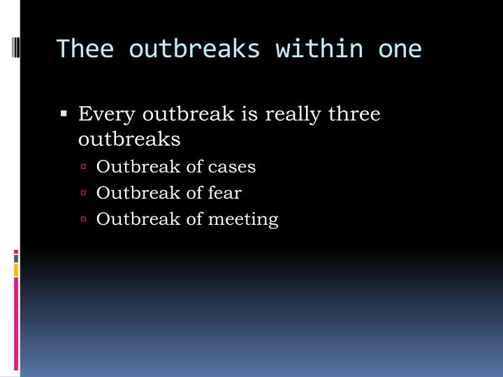 Thee outbreaks within one