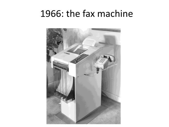 1966: the fax machine