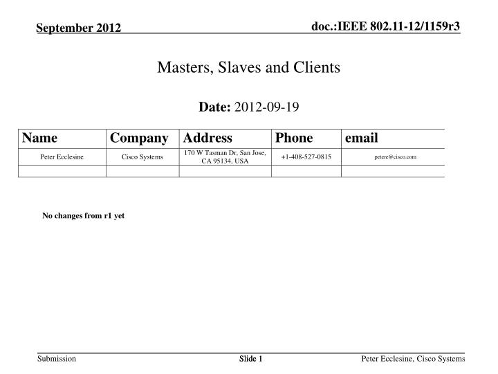 Masters slaves and clients