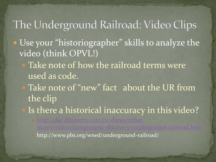 the underground railroad video clips n.