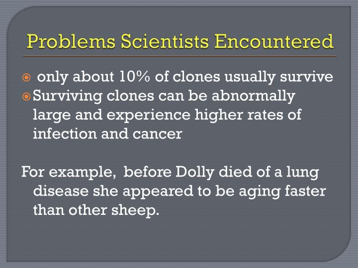Problems Scientists Encountered