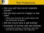 plot predictions