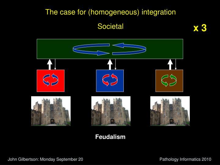 The case for (homogeneous) integration