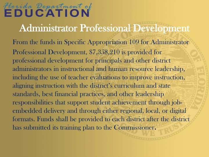 Administrator Professional Development