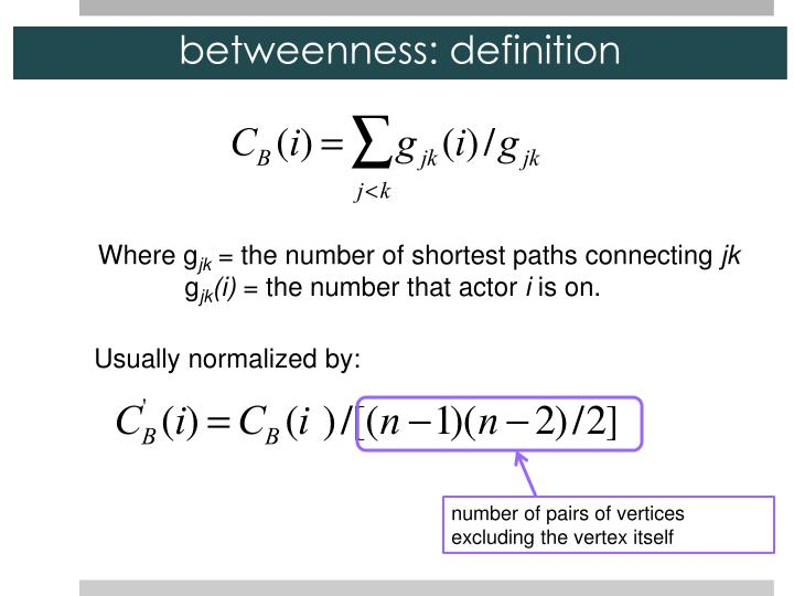 betweenness: definition