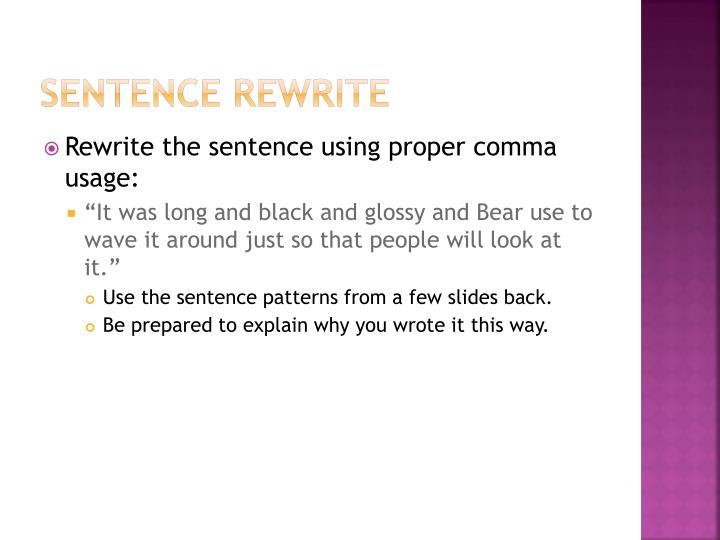 Sentence Rewrite