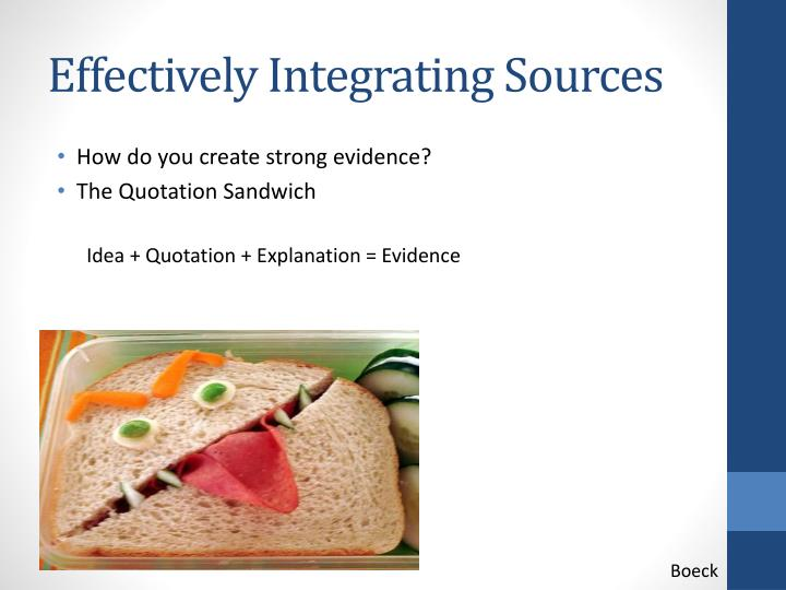Effectively Integrating Sources