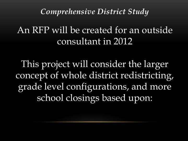 Comprehensive District Study