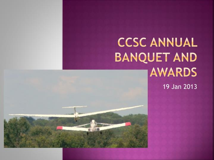 ccsc annual banquet and awards n.