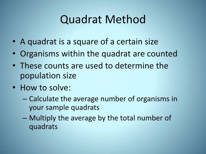 Quadrat Method