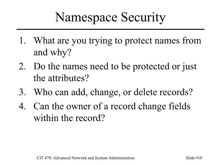 Namespace Security