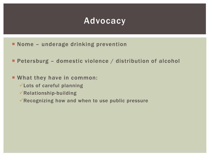 A dvocacy
