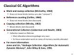 classical gc algorithms