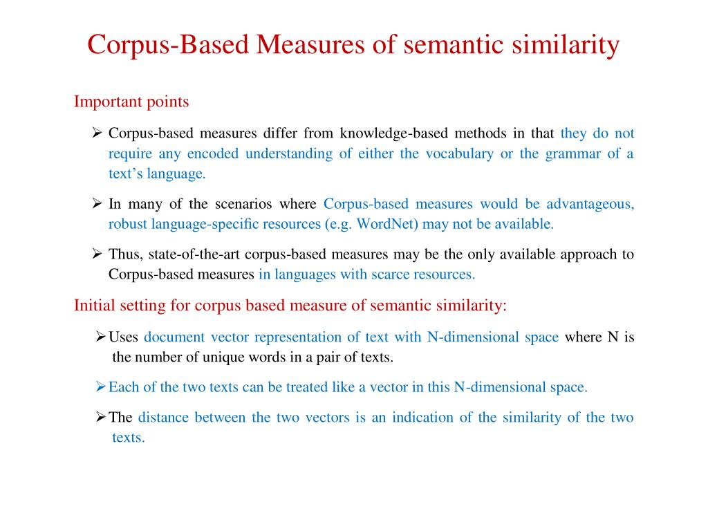 Semantic Similarity Between Two Words