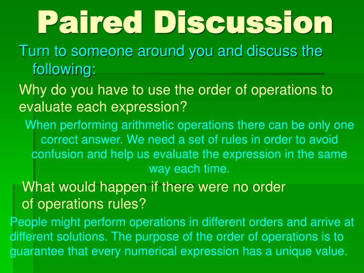 Paired Discussion