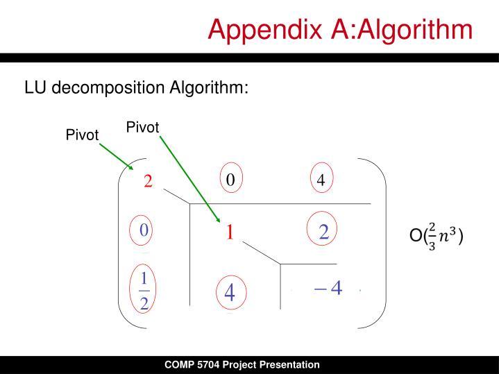 Appendix A:Algorithm