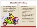 model text coding