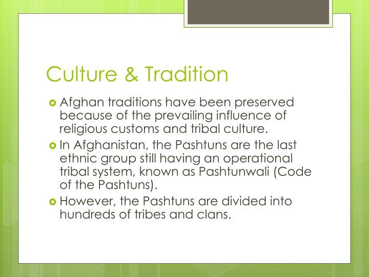 Culture & Tradition