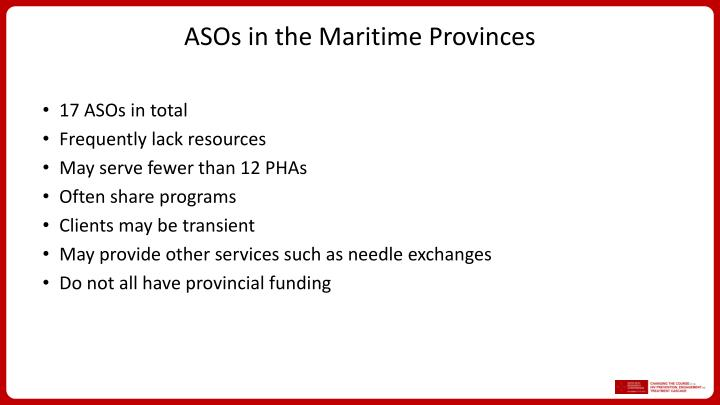 ASOs in the Maritime Provinces