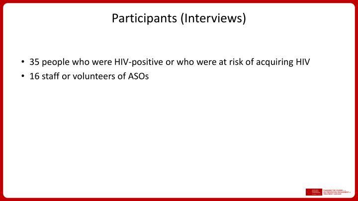 Participants (Interviews)