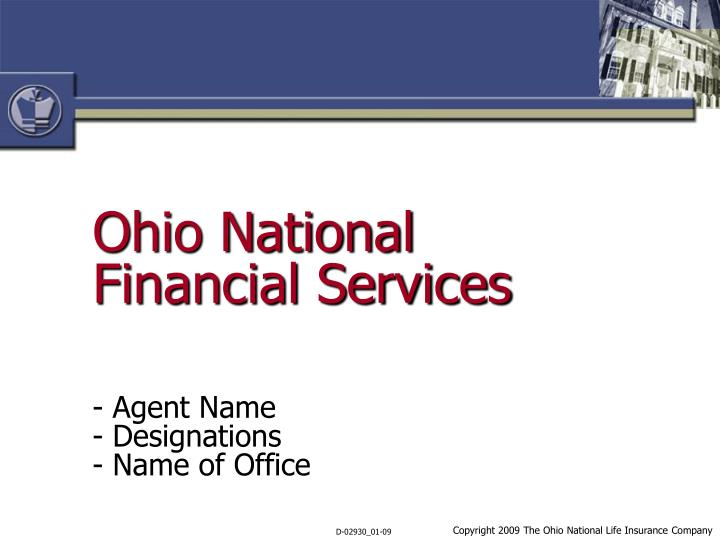 ohio national financial services n.