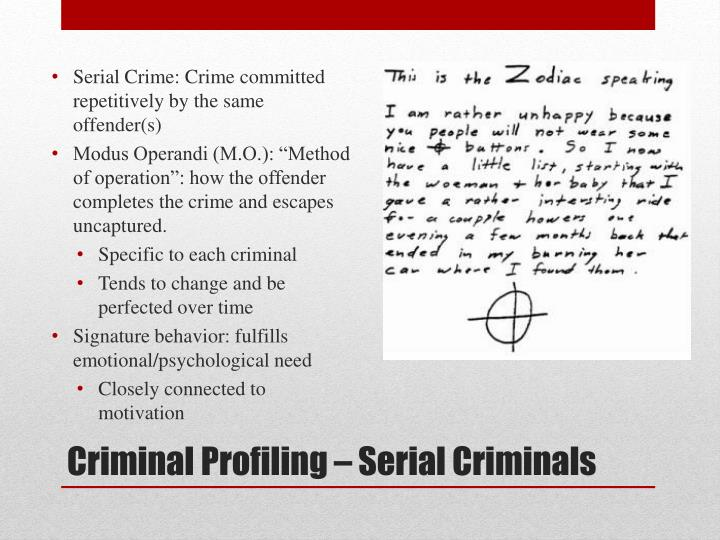 criminal profiling techniques essay This free criminology essay on essay: racial profiling is perfect for just people matching the race of the criminal will be given quantitative techniques essay.