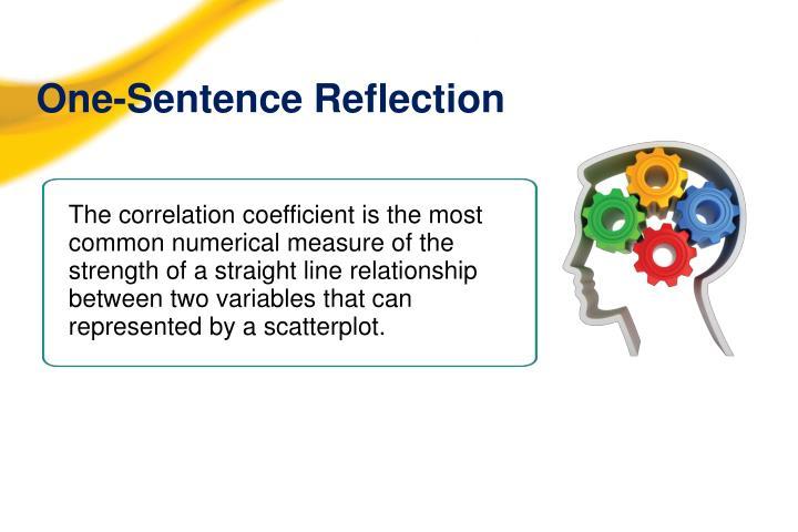 One-Sentence Reflection
